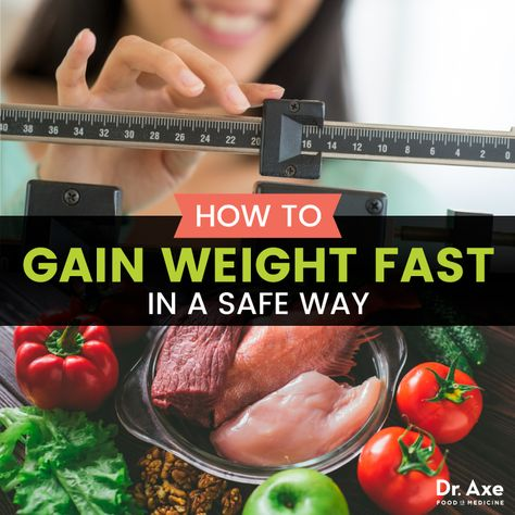 How to Gain Weight Fast for Men & Women - Dr. Axe
