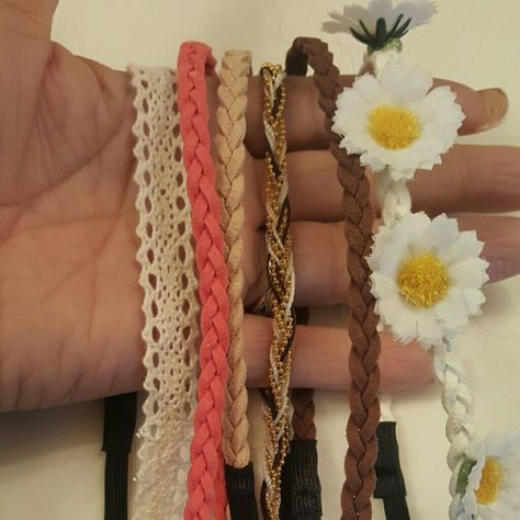 NWOT 6 Heafbands- Beaded Leather Crochet See pics. All new. Accessories Hair Accessories