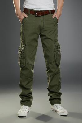 Military Men/'s Elastic Waist Cotton Cargo Pants Combat Camo Army Style Tro