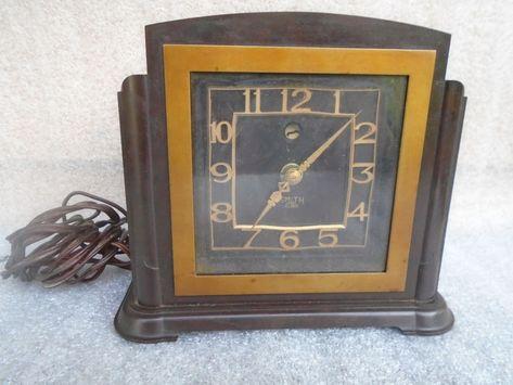Periods & Styles Antiques Vintage Art Deco Bakelite Electric Clock For Repair