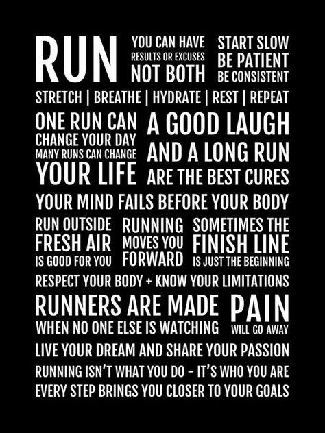 Runner's Manifesto Print - Running Gift for Women of Men, Motivational Running Quotes, Runner Motivation Poster, Marathon Runner Gifts, Motivation Poster, Marathon Motivation, Marathon Quotes, Marathon Tattoo, Quotes Motivation, Running Posters, Running Humor, Runner Quotes, Quotes For Runners