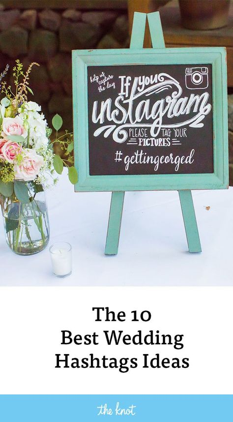 Find the best wedding hashtags, creative and funny wedding hashtag ideas and tips for how to create your own.