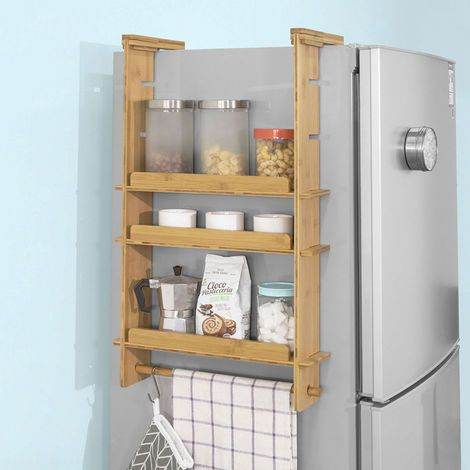 Sobuy Adjustable Kitchen Spice Jars Hanging Storage Racks Shelf Kcr03 N Hangeaufbewahrung Gewurzregal Regal
