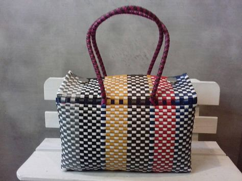 Handcrafted bags from Mexico, hand-woven  Handwoven bags with pom
