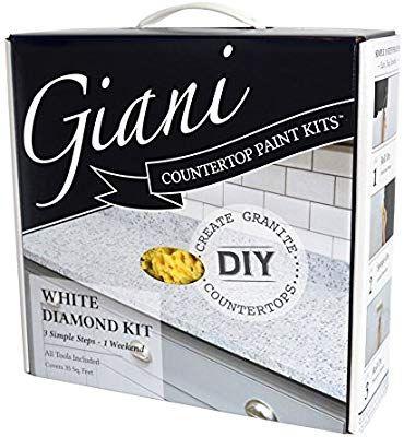 Amazon Com Giani Countertop Paint Kit White Diamond Home Improvement Giani Countertop Paint Countertop Paint