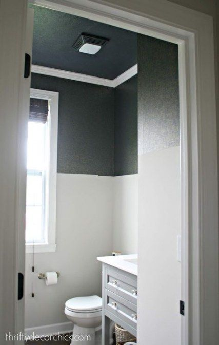 Bath Room Dark Ceiling Paint 26 Ideas Small Bathroom Remodel Bathrooms Remodel Bathroom Remodel Cost