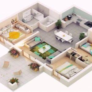 Simple 3 Bedroom House Plans In Kenya 3d House Plans Bedroom House Plans House Plans