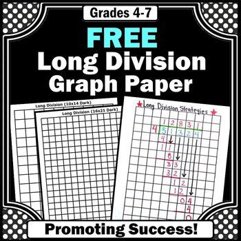 You will receive printable long division graph paper and a worksheet that models this or grade math problem solving strategy. This method also works well for special education students. Teaching Division, Math Division, Teaching Math, Maths, Long Division Game, Math Games, Division Anchor Chart, Multiplication Games, Math Literacy