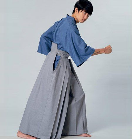 Available from Yaya's collaboration with McCall's Patterns, Unisex Kimono and Hakama Pants pattern was designed by Yaya and is numbered.