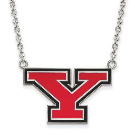 925 Sterling Silver Rhodium-plated Laser-cut Western Kentucky University Large Pendant w//Necklace 18