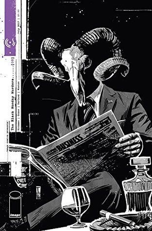 Happy third anniversary to issue 8 of the Black Monday Murders, the last before its indefinate hiatus. I miss it so. : ImageComics