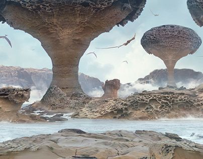Check Out New Work On My Behance Portfolio Porous Dragon Rocks Matte Painting Http Be Net Gallery 70087029 Porous Dragon Ro Matte Painting Painting Matte