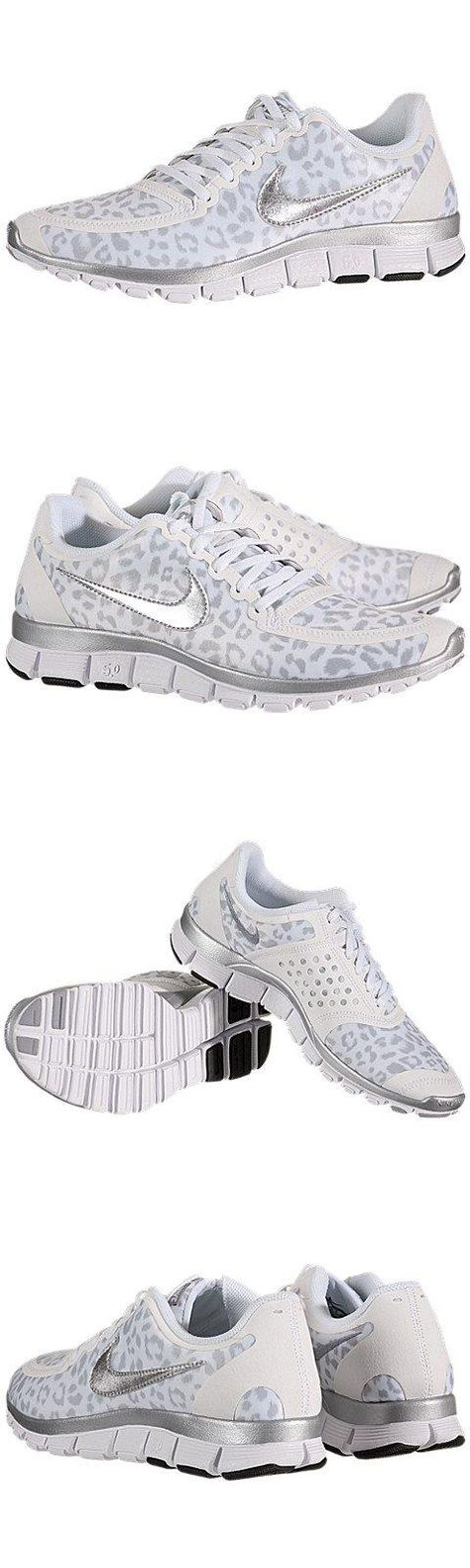 Nike Women's Free 5.0 V4 White/Metallic Silver/Wlf Grey Running Shoes 7.5 Women US, Nike Women's Free 5.0 V4 Running Shoes, #Apparel, #Running