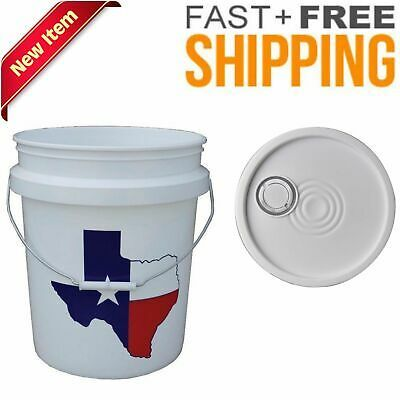 Features 5 Gallon Bucket Lid With Spout Molded In Plastic Spout Feature Tear Strip Design Provides Ease Of Opening And Tamper Resistant Feature