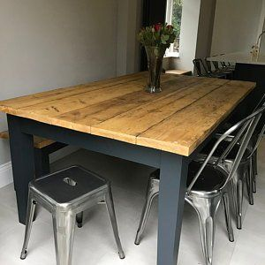 Reclaimed Farmhouse Dining Table - Rustic Kitchen Table ...