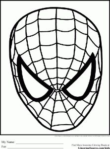 spiderman coloring pages face peter parker by hollowkingking paper modles