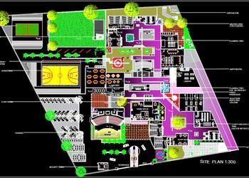 National Institute Of Design Site Plan Dwg Drawing National Institute Of Design Institute Of Design Site Plan