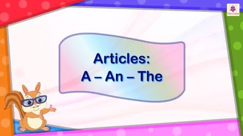 Articles A, An and The | English Grammar & Composition Grade 2 | Periwinkle