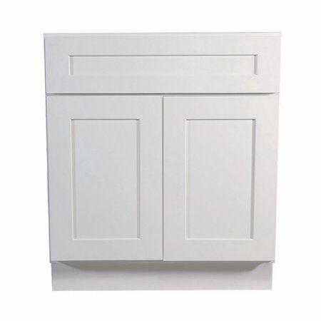 Design House 561381 Brookings Unassembled Shaker 30 Inch Base Cabinet White Kitchen Cabinet Design Interior Design Kitchen House Design