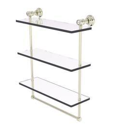 Allied Brass Carolina Crystal Polished Nickel Brass Bathroom Shelf