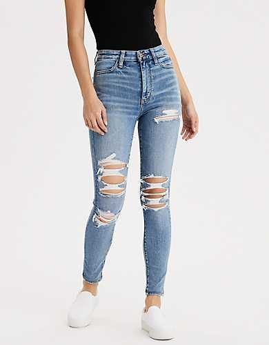 Fashion Women Jeans Red Jeans Blue Ripped Jeans Bootcut Jeans - Fashion Women Jeans Red Jeans Blue Ripped Jeans Bootcut Jeans – rosewew Source by - Ripped Jeans With Fishnets, Light Wash Ripped Jeans, Cute Ripped Jeans, Superenge Jeans, Teen Jeans, Womens Ripped Jeans, Ripped Skinny Jeans, Hollister Jeans, Outfits With Skinny Jeans