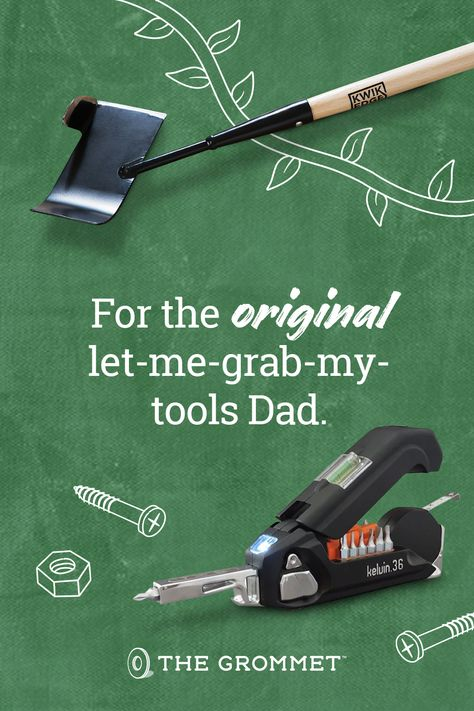 Find amazing gifts you've never seen for your favorite handy, can-fix-anything Dad. Find unique tools and problem-solvers for Dad's toolbox at The Grommet.