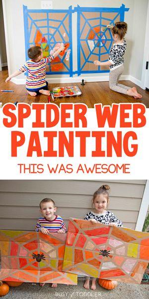 Spider Web Tape Resist Art