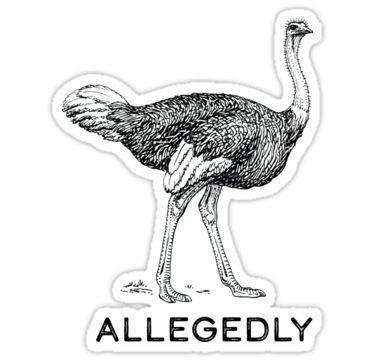 Allegedly Sticker By Sunnylemonader In 2020 Letterkenny Unique Sticker Vinyl Decal Stickers