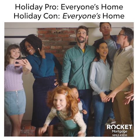 The moment when you're thankful that Rocket Mortgage® helped you find a home with 2.5 bathrooms instead of 1.