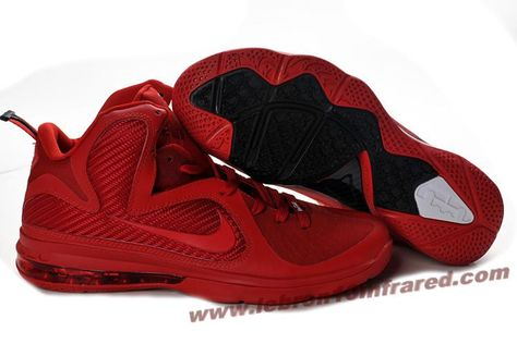 the best attitude 4cb63 f6c7e Hot Nike Lebron 9 NBA Shoes All Red Hot