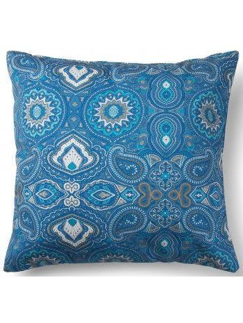 Cuscini Azzurri.Bellissima Fantasia Sulle Tonalita Dell Azzurro Un Cuscino Dall