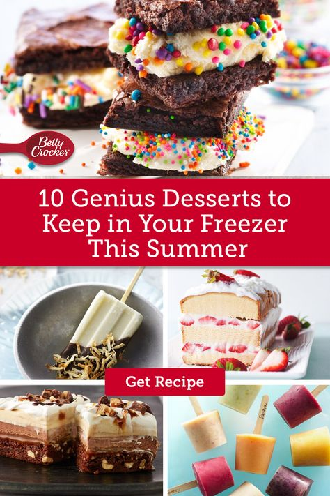 These summer dessert recipes are not only delicious but can be frozen and pulled out at a moment's notice. Pin now for sweet summer treats.