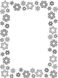 border winter and snow pinterest coloring pages snowflakes and frame