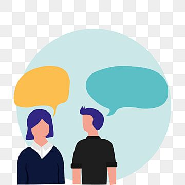 Illustration Of Two Person Talking With Bubble Chat Human Clipart People Character Png And Vector With Transparent Background For Free Download Free Vector Illustration Cartoon Styles Fantasy Posters