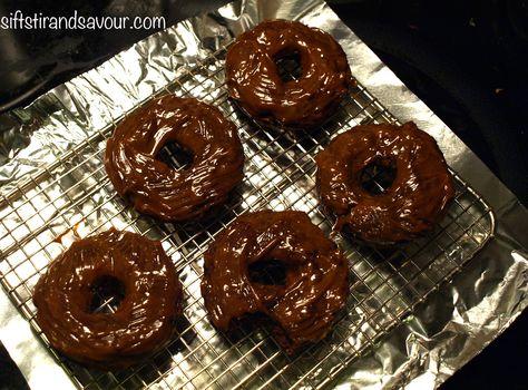 CHOCOLATE PEANUT BUTTER DONUTS- Vegan, Gluten-Free, Refined Sugar-Free & Oil-Free