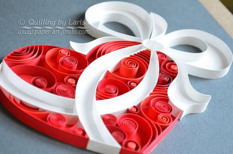 Quilling wall art Quilling paper Love Heart Wedding