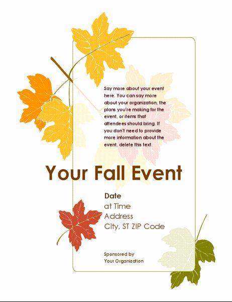 Free Fall Festival Flyer Templates Luxury Fall Event Flyer With Leaves In 2020 Event Flyer Templates Event Flyer Flyer Template