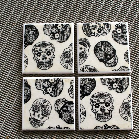 Day Of The Dead Ceramic Drinks Coasters