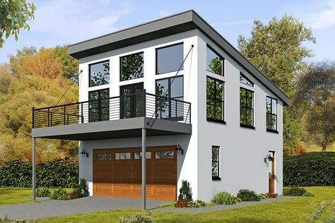 House Plan 940 00038 Modern Plan 820 Square Feet 1 Bedroom 1 Bathroom In 2021 Carriage House Plans Garage Apartment Plan Garage House Plans