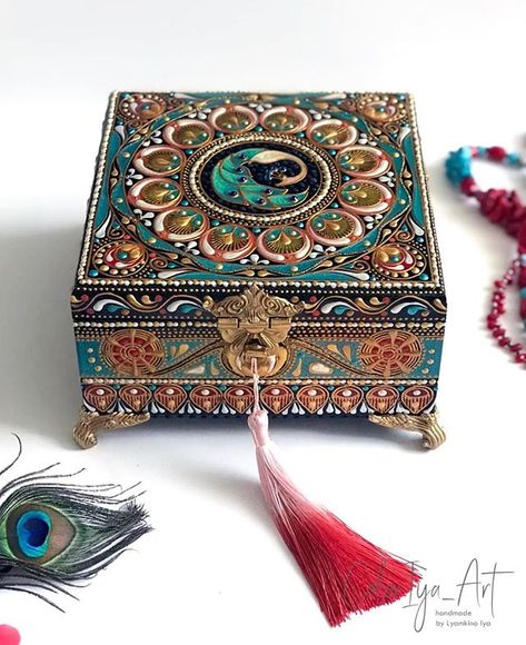NOVICA Festival of Flowers Hand-Painted Ornate Decorative Wood Box