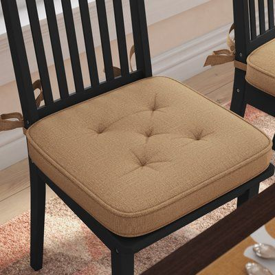 August Grove Burlap Dining Chair