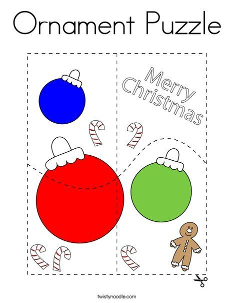 Ornament Puzzle Coloring Page Twisty Noodle Coloring Pages Christmas Coloring Pages Holiday Lettering