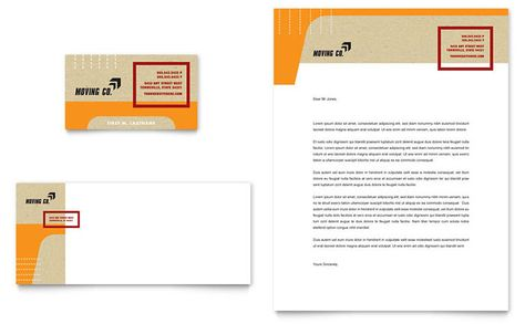 Movers and Moving Company Business Card and Letterhead Template - letterhead sample in word