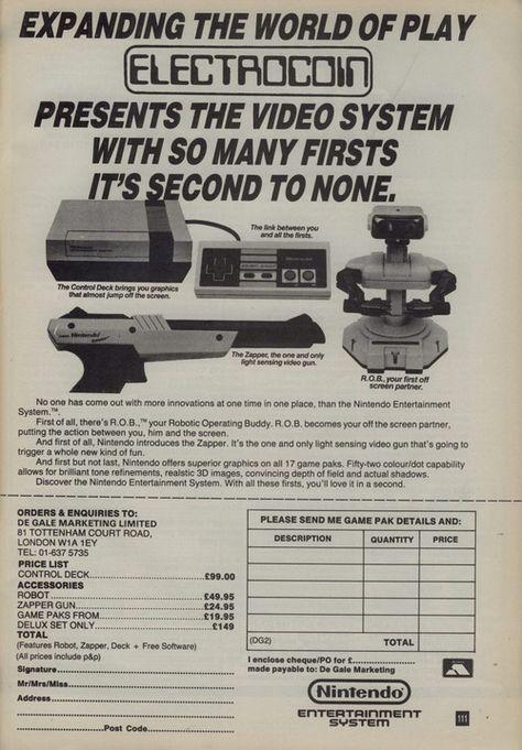 Electrocoin NES (Nintendo Entertainment System) ad