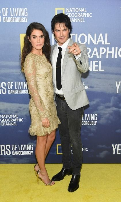 Nikki Reed and Ian Somerhalder were a stylish pair during the season two premiere of National Geographic's Years of Living Dangerously in NYC.