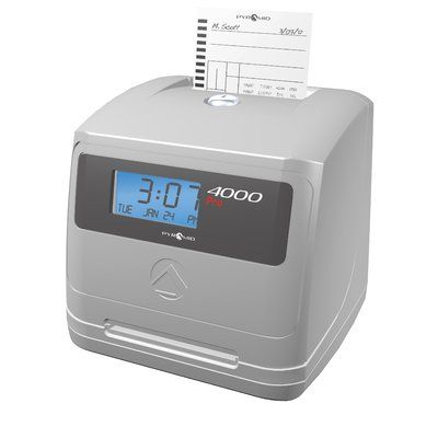 Pyramid 4000 Pro Auto Totaling Time Clock Time Clock Clock Pyramids