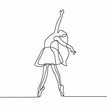Continuous Line Drawing Of Girl Dancing Ballet Ballerina Concept Minimalism Style Dance Clipart Ballerina Illustration Png And Vector With Transparent Backgr Continuous Line Drawing Line Drawing Dancing Drawings