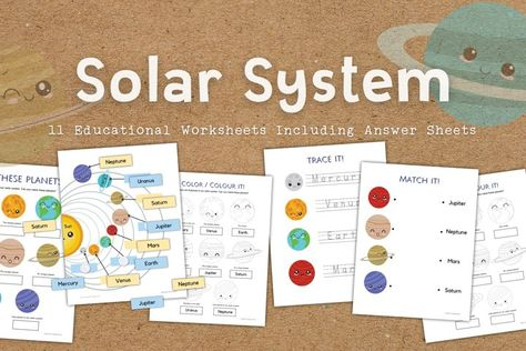 Solar System and Planets Educational Worksheets