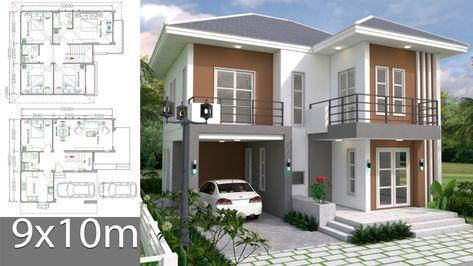 desain rumah ukuran 9x10 2 lantai - sekitar rumah