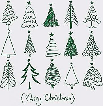 Trendy Christmas Tree Drawing Art Xmas Cards Ideas Drawing Art Tree Alternative Christmas Tree Christmas Tree Drawing Ribbon On Christmas Tree